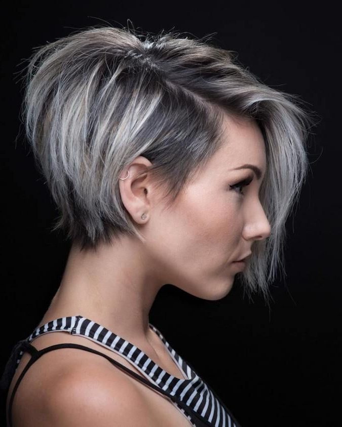 100 Mind Blowing Short Hairstyles For Fine Hair Within Icy Poker Straight Razored Pixie Haircuts (View 20 of 25)