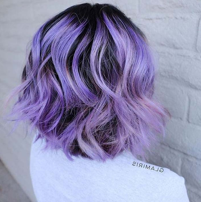 100 Short Hairstyles For Women: Pixie, Bob, Undercut Hair | Fashionisers Intended For Lavender Haircuts With Side Part (View 21 of 25)