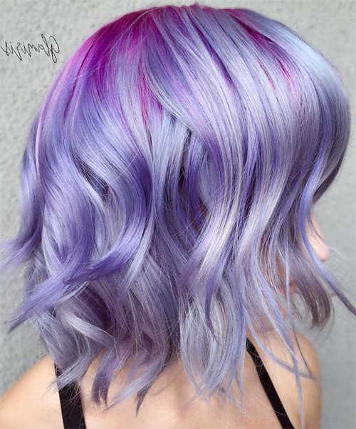 100 Short Hairstyles For Women: Pixie, Bob, Undercut Hair | Fashionisers Intended For Lavender Haircuts With Side Part (View 19 of 25)