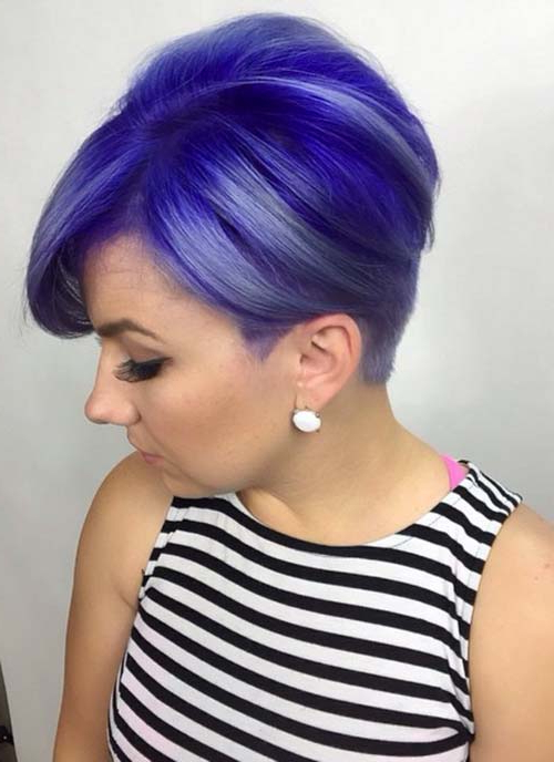 100 Short Hairstyles For Women: Pixie, Bob, Undercut Hair | Fashionisers Pertaining To Edgy Purple Tinted Pixie Haircuts (View 1 of 25)