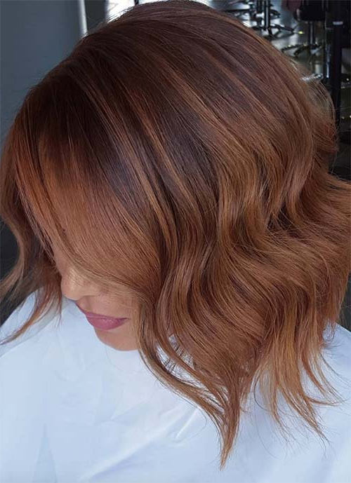 100 Short Hairstyles For Women: Pixie, Bob, Undercut Hair | Fashionisers Throughout Stacked Copper Balayage Bob Hairstyles (View 23 of 25)