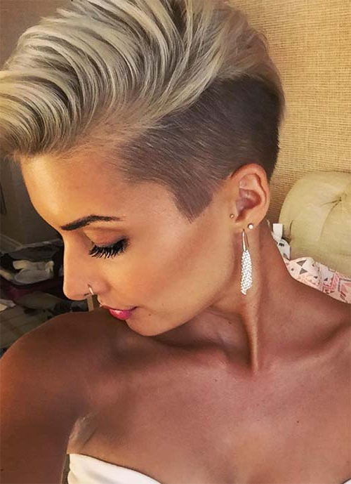 100 Short Hairstyles For Women: Pixie, Bob, Undercut Hair   Fashionisers With Regard To Sweeping Pixie Hairstyles With Undercut (View 9 of 25)