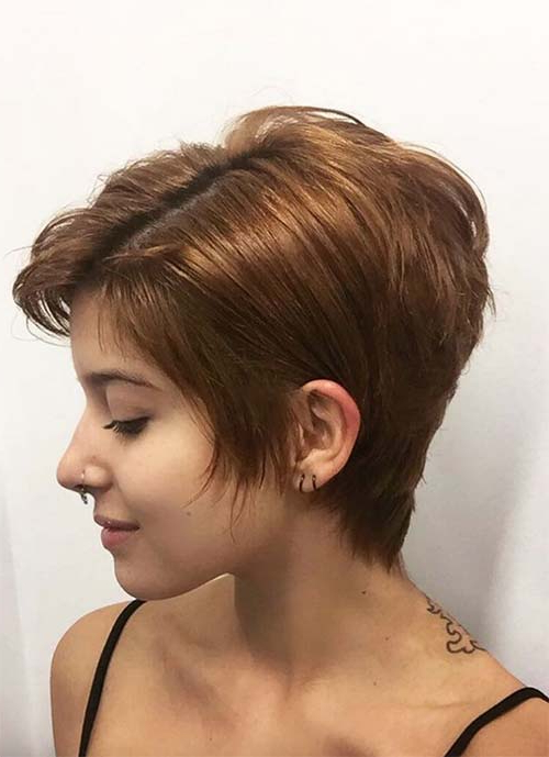 100 Short Hairstyles For Women: Pixie, Bob, Undercut Hair | Fashionisers Within Stylish Grown Out Pixie Hairstyles (View 2 of 25)