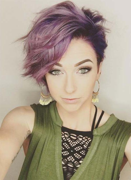100 Short Hairstyles For Women: Pixie, Bob, Undercut Hair | Hair Regarding Funky Pixie Undercut Hairstyles (View 13 of 25)