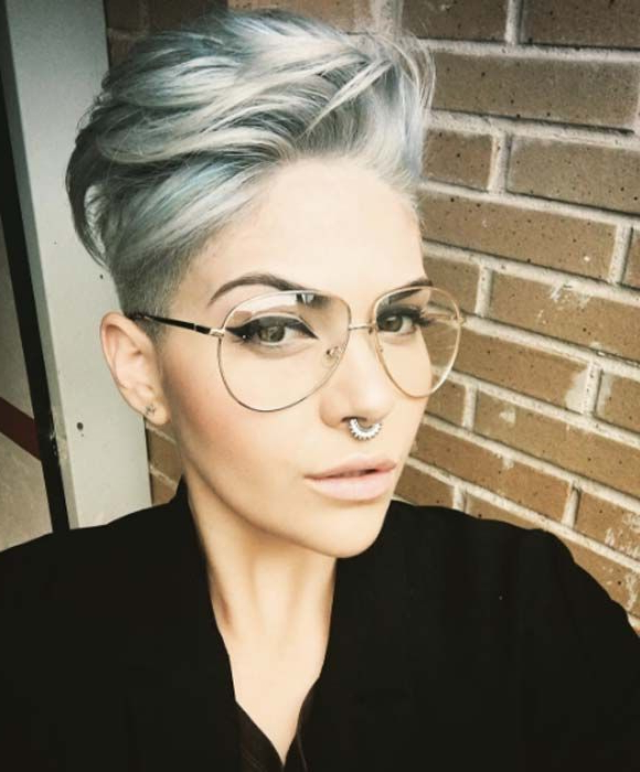 100 Top Pixie Haircuts Of All Time | Pixies | Pinterest | Short Hair Intended For Sleek Metallic White Pixie Bob Haircuts (View 6 of 25)
