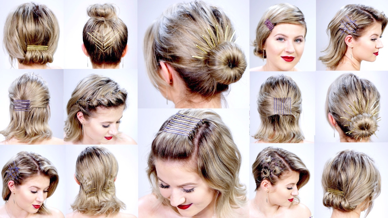 11 Super Easy Hairstyles With Bobby Pins For Short Hair | Milabu Regarding Short Hairstyles For Work (View 3 of 25)