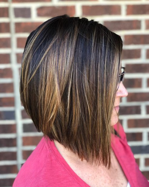 114 Top Shoulder Length Hair Ideas To Try (Updated For 2018) For Angled Burgundy Bob Hairstyles With Voluminous Layers (View 16 of 25)