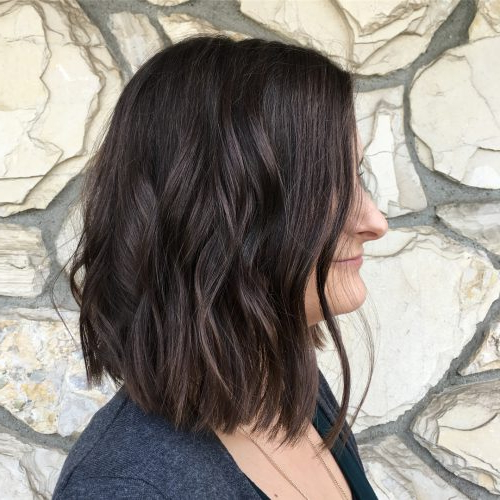 114 Top Shoulder Length Hair Ideas To Try (Updated For 2018) Within Angled Burgundy Bob Hairstyles With Voluminous Layers (View 25 of 25)