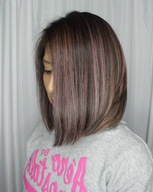 114 Top Shoulder Length Hair Ideas To Try (Updated For 2018) Within Angled Burgundy Bob Hairstyles With Voluminous Layers (View 19 of 25)