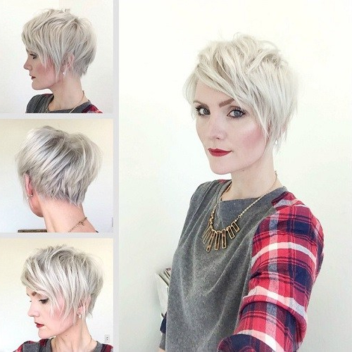 12 Chic And Stylish Hairstyles For Short Fine Hair Types | Hair La Vie With Regard To Layered Pixie Hairstyles With An Edgy Fringe (View 22 of 25)