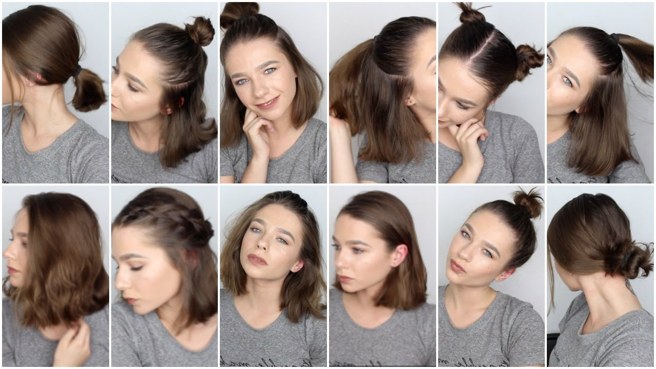 12 Easy Hairstyles For Short Hair ? – Youtube Intended For Cool Hairstyles For Short Hair Girl (View 6 of 25)