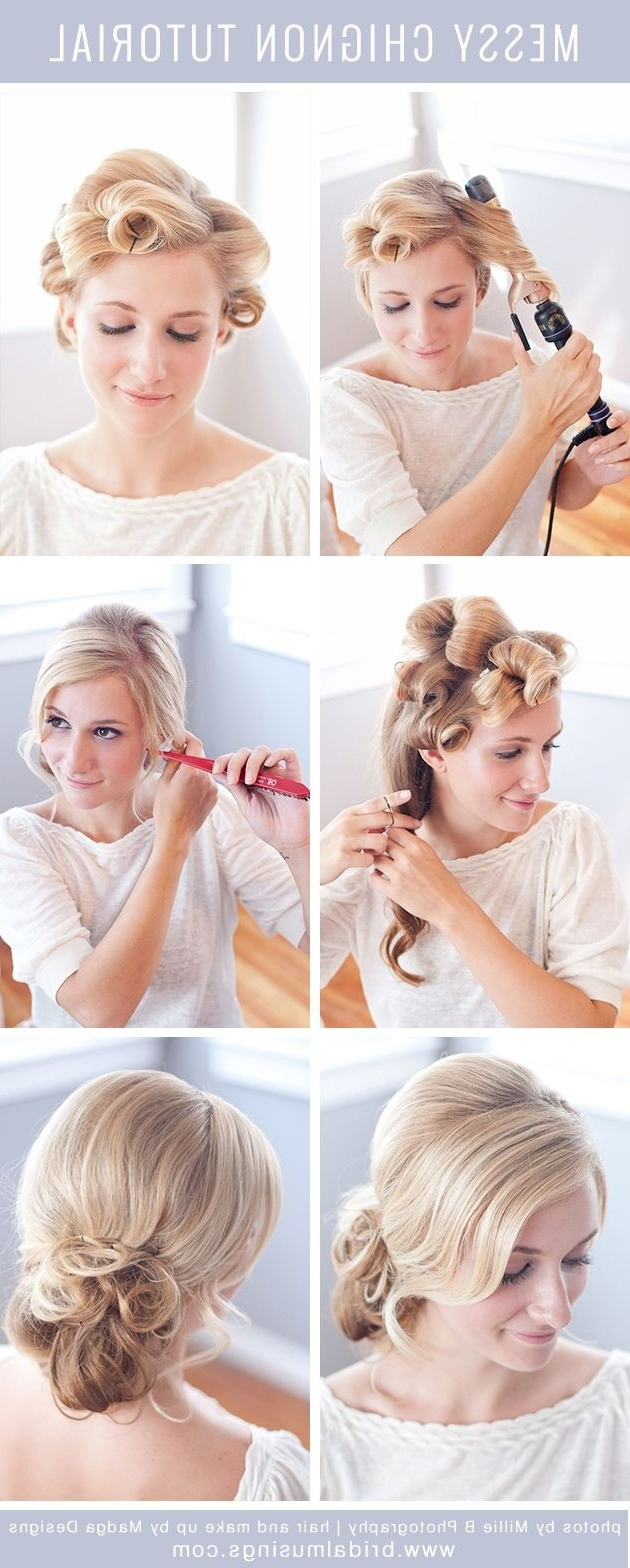 12 Hottest Wedding Hairstyles Tutorials For Brides And Bridesmaids Regarding Cute Hairstyles For Short Hair For A Wedding (View 2 of 25)