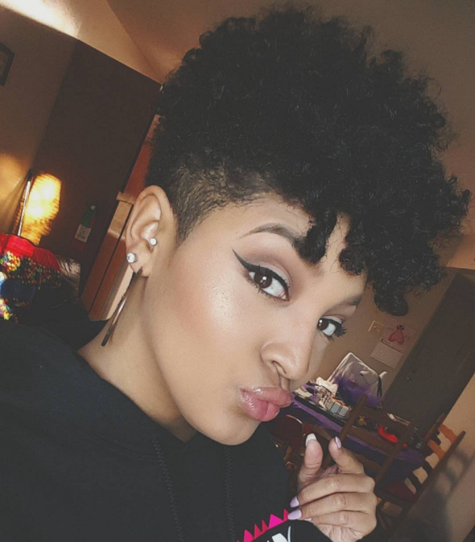 12 Natural Tapered Cuts According To Face Shape | Tapered | Natural With Regard To Soft Curly Tapered Pixie Hairstyles (View 13 of 25)