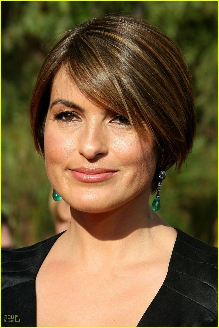 12 Short Hairstyles For Round Faces: Women Haircuts – Popular Haircuts Regarding Medium Short Haircuts For Round Faces (View 14 of 25)