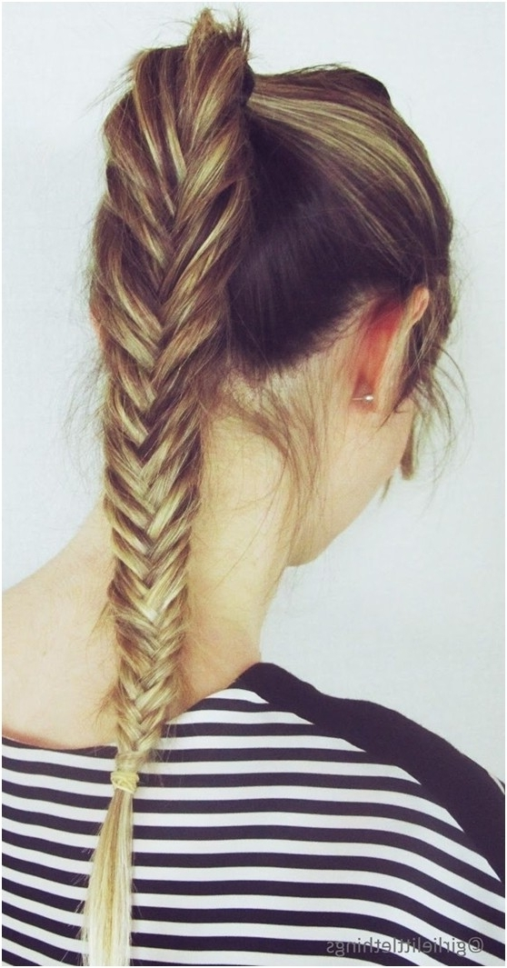 12 Simple Fishtail Braid Hairstyles – Pretty Designs With Regard To Loosely Braided Ponytail Hairstyles (View 13 of 25)