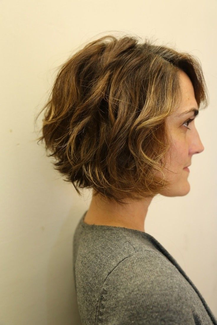 12 Stylish Bob Hairstyles For Wavy Hair   Hair Styles   Pinterest Intended For Jaw Length Inverted Curly Brunette Bob Hairstyles (View 2 of 25)