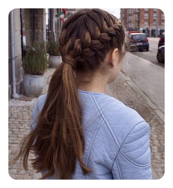 125 Cute Braided Ponytail Ideas For Spring Pertaining To Pretty Plaited Ponytails (View 9 of 25)