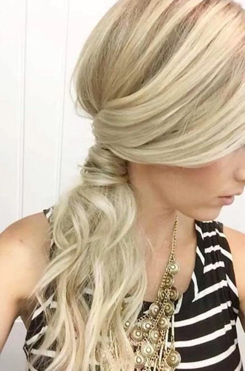 14 Cutest Side Ponytail Ideas For 2018 That You Need To See! Regarding Twisted And Pinned Blonde Ponytails (View 6 of 25)