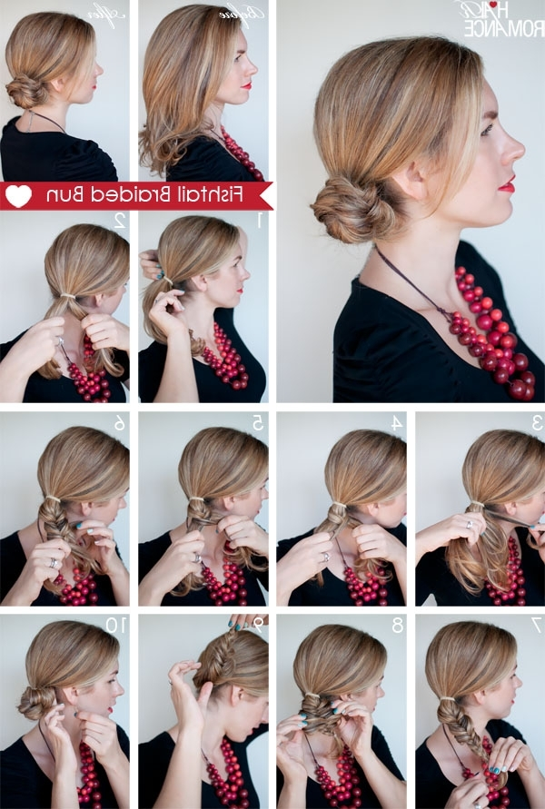 14 Incredible Fishtail Braid Tutorials – Pretty Designs Within Fabulous Fishtail Side Pony Hairstyles (View 2 of 25)