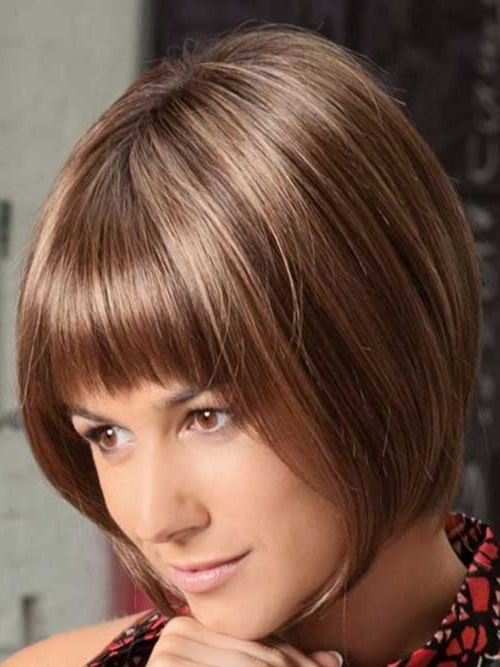 15 Best Inverted Bob With Bangs | Short Hairstyles 2017 – 2018 Regarding Short Tapered Bob Hairstyles With Long Bangs (View 8 of 25)