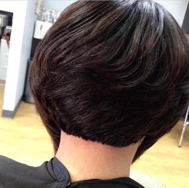 15 Black Girl Short Bob Hairstyles In 2018 | Short Cuts | Pinterest Regarding Short Stacked Bob Blowout Hairstyles (View 12 of 25)