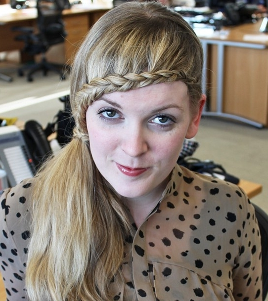 15 Braided Bangs Tutorials: Cute, Easy Hairstyles – Pretty Designs Regarding Pretty Plaited Ponytails (View 25 of 25)