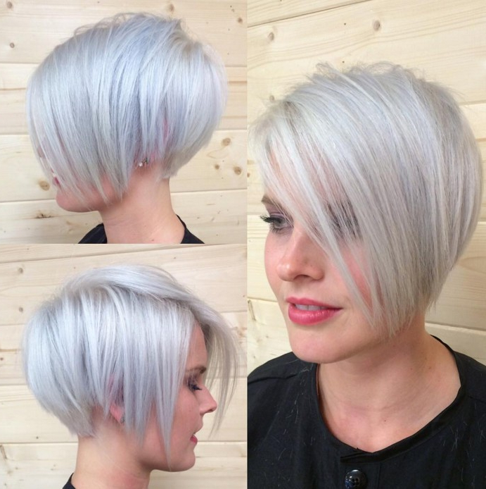 15 Chic Short Pixie Haircuts For Fine Hair – Easy Short Hairstyles In White Blonde Bob Haircuts For Fine Hair (View 8 of 25)
