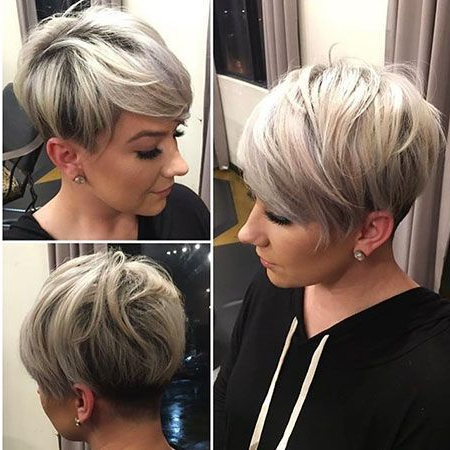 15 Chic Short Pixie Haircuts For Fine Hair – Easy Short Hairstyles Regarding Rounded Pixie Bob Haircuts With Blonde Balayage (View 2 of 25)
