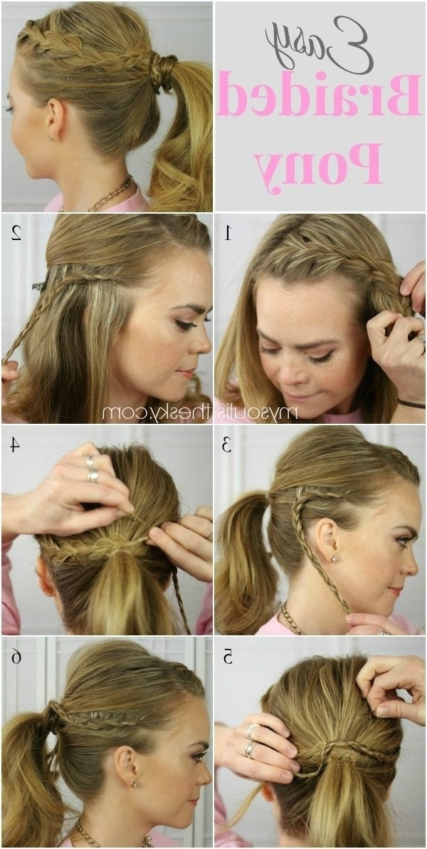 15 Cute & Easy Ponytails – Sure Champ Inside Pretty Plaited Ponytails (View 14 of 25)