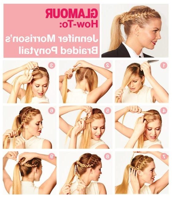 15 Cute & Easy Ponytails – Sure Champ Pertaining To Messy Double Braid Ponytail Hairstyles (View 2 of 25)
