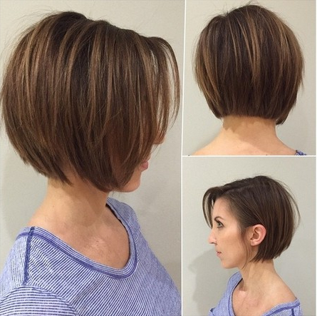 15 Fabulous Short Layered Hairstyles For Girls And Women – Popular Throughout Blunt Bob Haircuts With Layers (View 8 of 25)