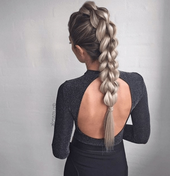 15 Faux Hawk Braid Styles From Instagram To Indulge Your Rock Chick Side Within Fiercely Braided Ponytail Hairstyles (View 8 of 25)