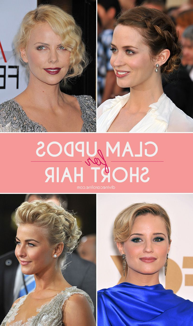 15 Glamorous Updos For Short Hair | Beautiful You | Pinterest In Short Hairstyles For Formal Event (View 2 of 25)