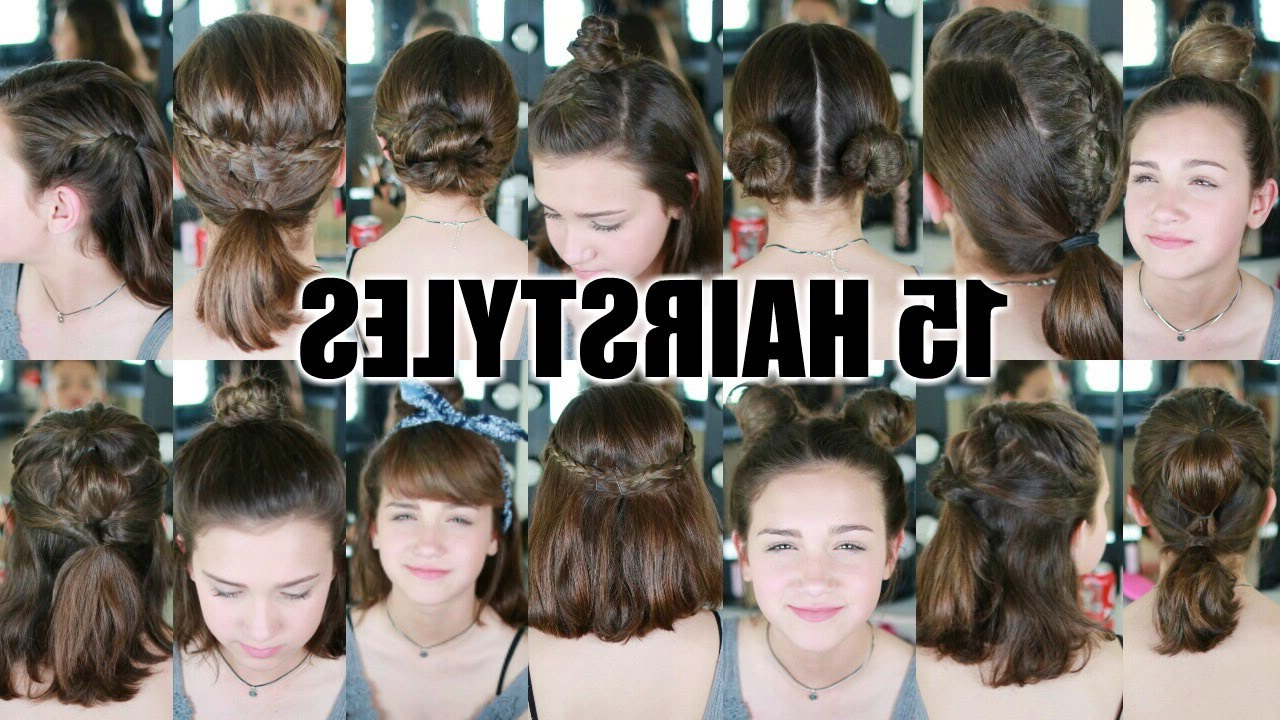 15 Heatless Hairstyles For Short Hair Back To School – Youtube With Short Haircuts That Cover Your Ears (View 11 of 25)