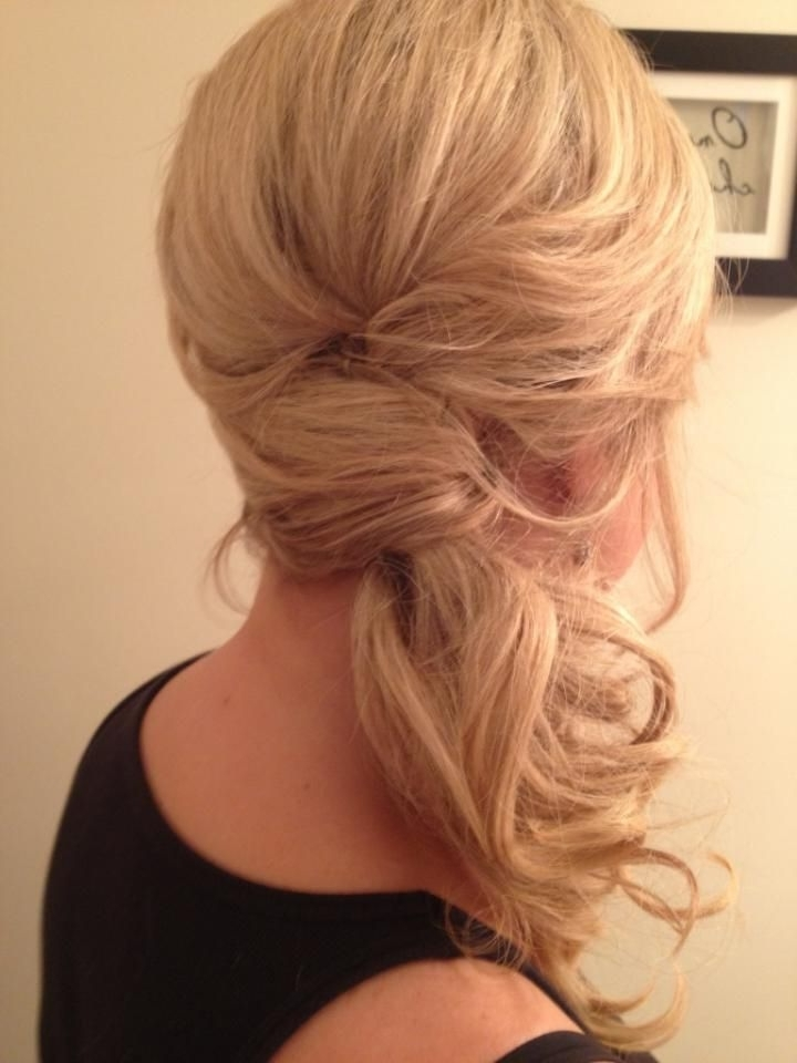 15 Hot Side Ponytail Hairstyles: Romantic, Sleek, Sexy& Casual Looks For Fancy Updo With A Side Ponytails (View 2 of 25)
