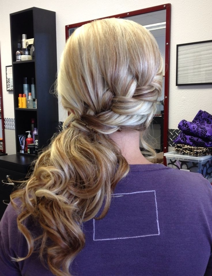 Featured Photo of Twisted Front Curly Side Ponytail Hairstyles