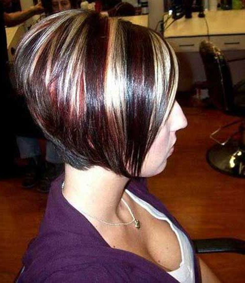 15+ Inverted Bob Styles   Bob Hairstyles 2018 – Short Hairstyles For Throughout Stacked Bob Hairstyles With Highlights (View 10 of 25)