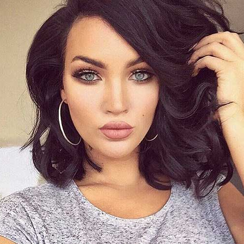 15 Popular Brunette Bob Hairstyles | Short Hairstyles 2017 – 2018 Throughout Brunette Bob Haircuts With Curled Ends (View 3 of 25)