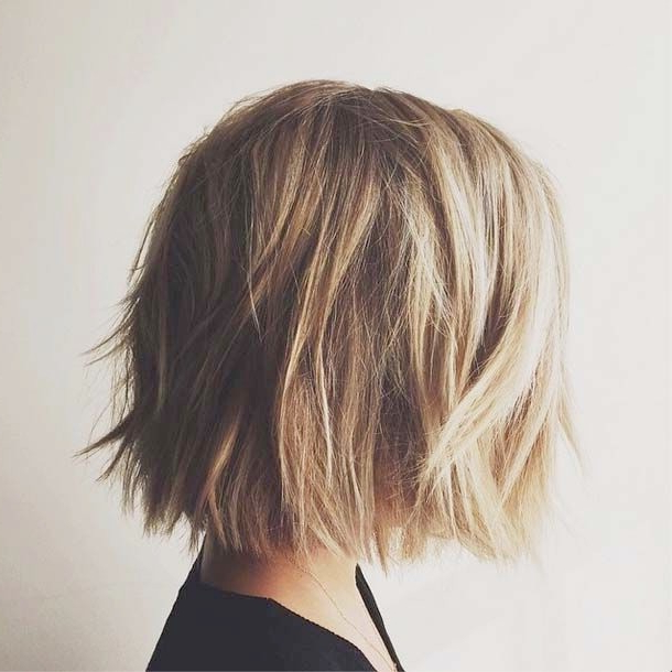 15 Shaggy Bob Haircut Ideas For Great Style Makeovers! – Popular Throughout Messy Jaw Length Blonde Balayage Bob Haircuts (View 7 of 25)