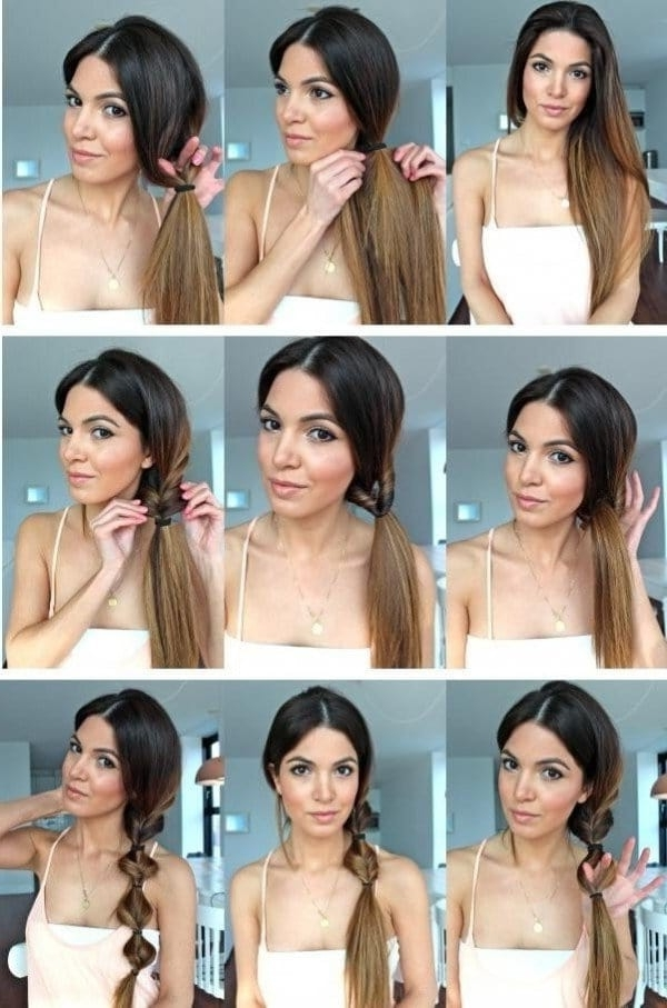 15 Simple Hairstyle Ideas Ready For Less Than 2 Minutes And Looks Pertaining To 2 Minute Side Pony Hairstyles (View 3 of 25)