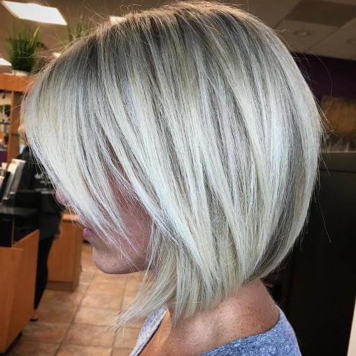 15 Stunningly Beautiful Short Hairstyles For Women Over 50 In Choppy Rounded Ash Blonde Bob Haircuts (View 10 of 25)
