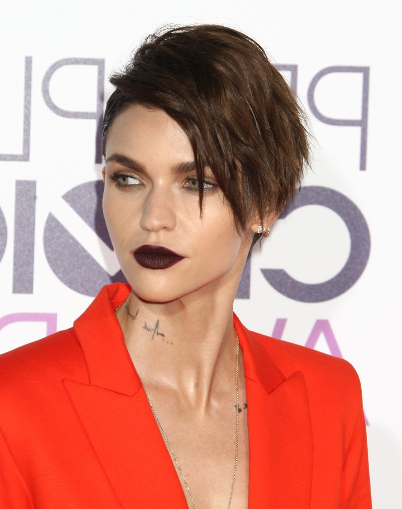 15 Times Ruby Rose Showed Us Very Different Short Hair Styles | Beaut (View 25 of 25)
