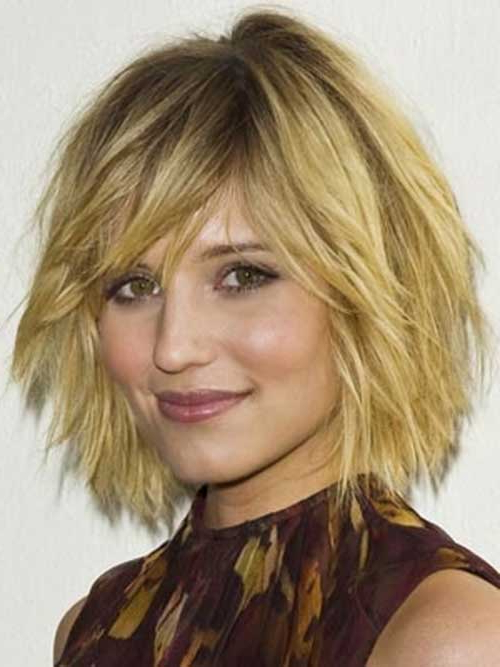 15 Unique Chin Length Layered Bob | Short Hairstyles 2017 – 2018 For Jaw Length Wavy Blonde Bob Hairstyles (View 19 of 25)