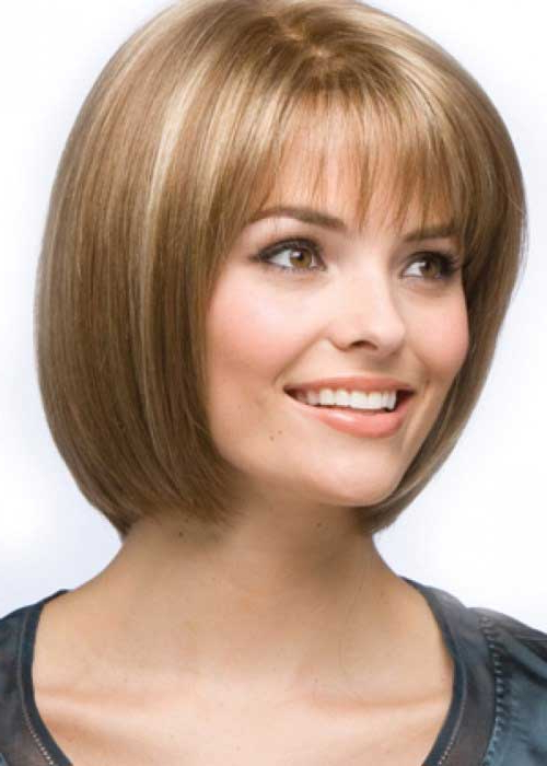 15 Unique Chin Length Layered Bob | Short Hairstyles 2017 – 2018 Inside Textured Bob Haircuts With Bangs (View 19 of 25)