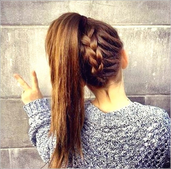 16 Beautiful Braided Ponytail Hairstyles For Different Occasions For Beautifully Braided Ponytail Hairstyles (View 17 of 25)