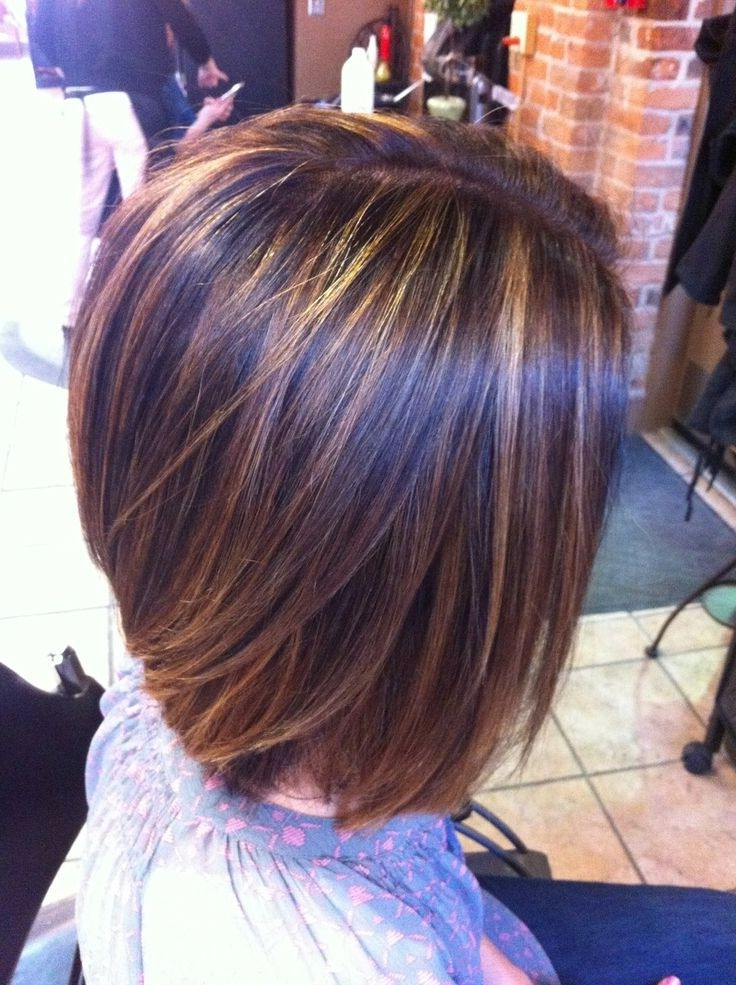 16 Chic Stacked Bob Haircuts: Short Hairstyle Ideas For Women Inside Perfectly Angled Caramel Bob Haircuts (View 25 of 25)