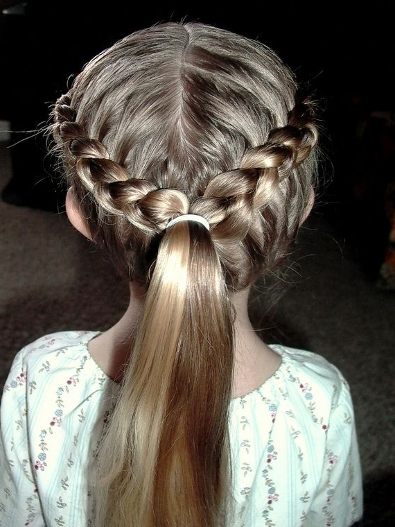 16 Cute Hairstyles For Girls – Hairstyles Weekly Intended For Double French Braid Crown Ponytail Hairstyles (View 15 of 25)