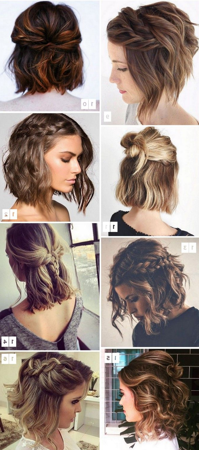 16 Penteados Para Cabelos Curtos Populares No Pinterest | Hair Style Within Hairstyles For Short Hair Wedding (View 5 of 25)