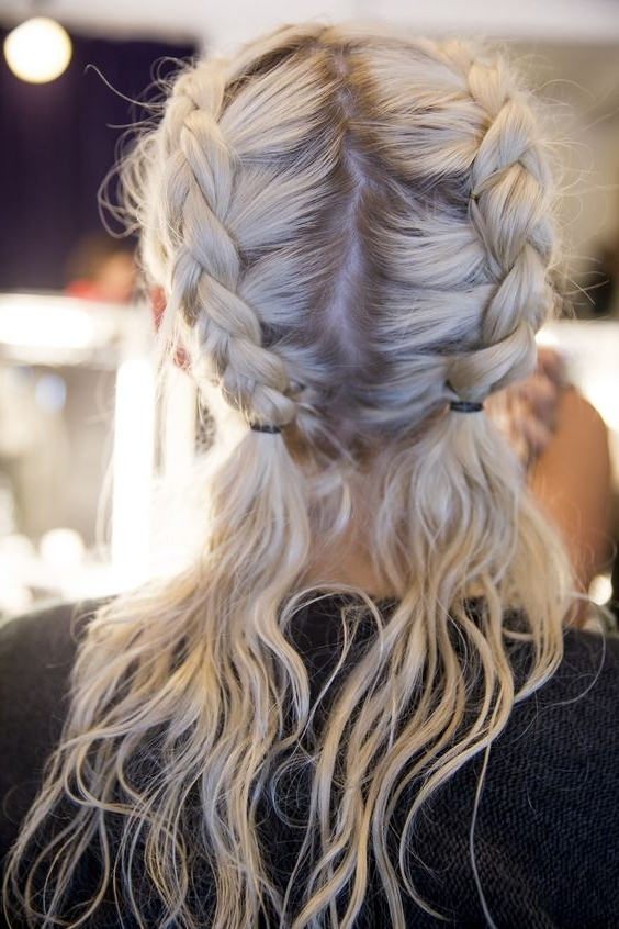 17 Chic Double Braided Hairstyles You Will Love | Styles Weekly For Blonde Ponytails With Double Braid (View 7 of 25)