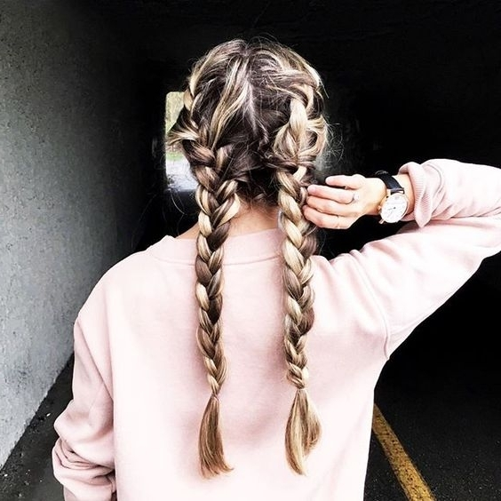 17 Chic Double Braided Hairstyles You Will Love | Styles Weekly In Messy Double Braid Ponytail Hairstyles (View 19 of 25)